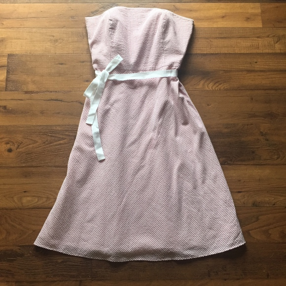 LOFT Dresses & Skirts - NWT LOFT Strapless Striped Red and White Dress
